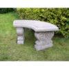 Stone Garden Bench Curved Garden Ornament