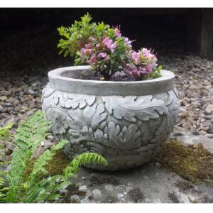 Stone Planter Leaf Pot