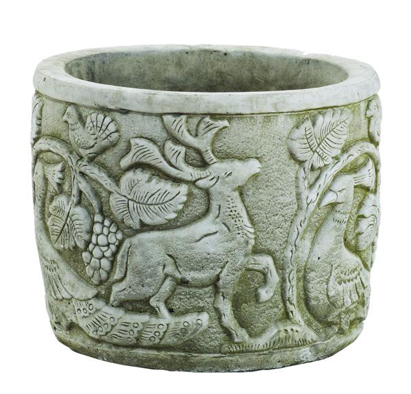 Solid Stone Large Peacock Pot Planter