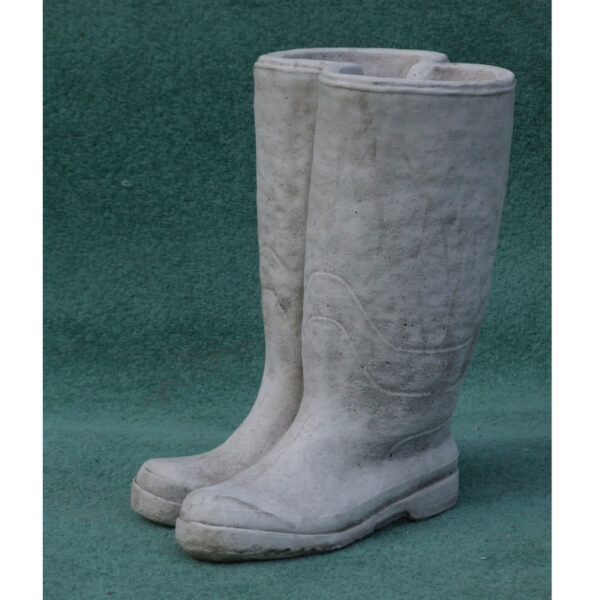 Wellies Hand Cast Stone Planter
