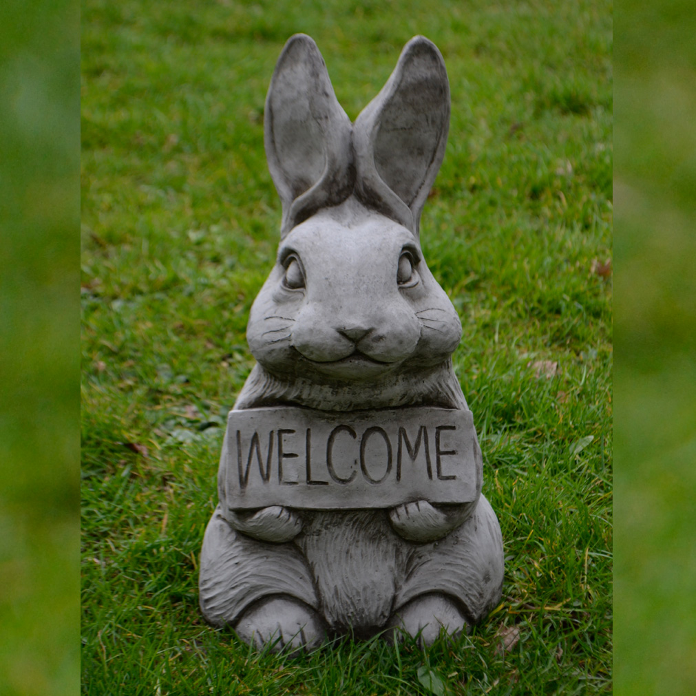 Welcome Bunny Garden Ornament 1