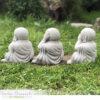 Three Wise Buddhas Garden Statue Set