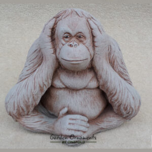 Wise Monkey Hear No Evil Garden Ornament