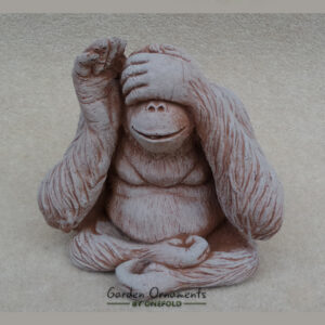 Wise Monkey See No Evil Garden Ornament