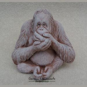 Wise Monkey Speak No Evil Garden Ornament