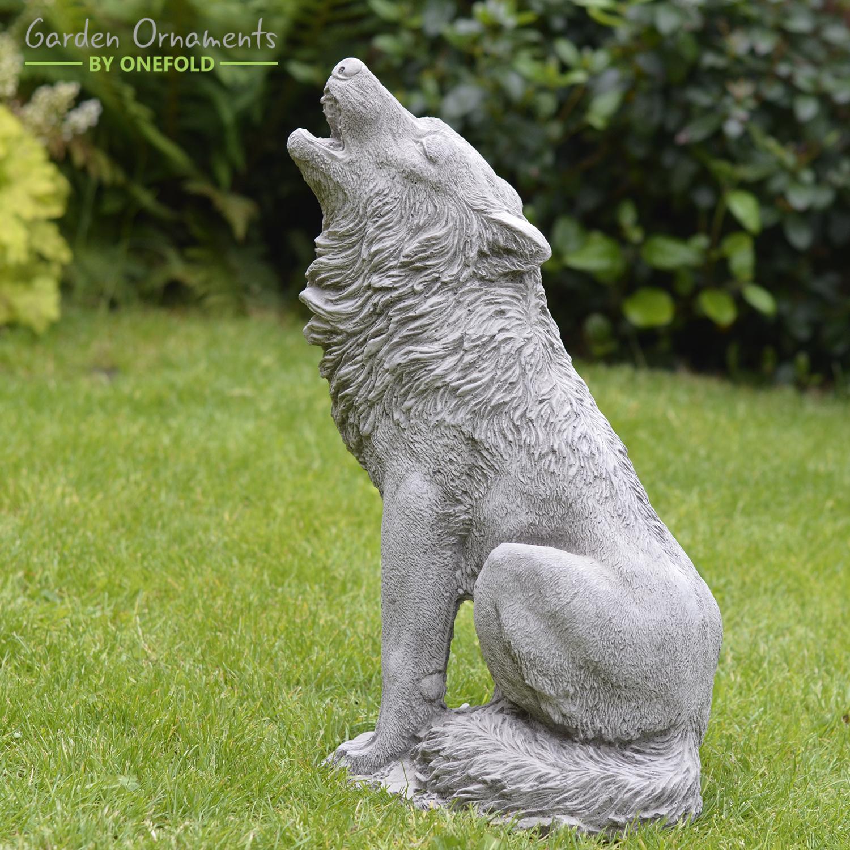 Howling-Wolf-Garden-Statue